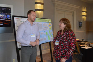 Ben Christ (L) in conversation with Christine Bliss, Regional Agronomist for Agrisoma