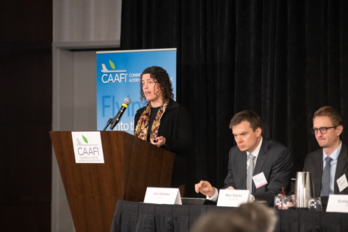Kristin Lewis of DOT's Volpe Center and Head Research and Technical Advisor for CAAFI