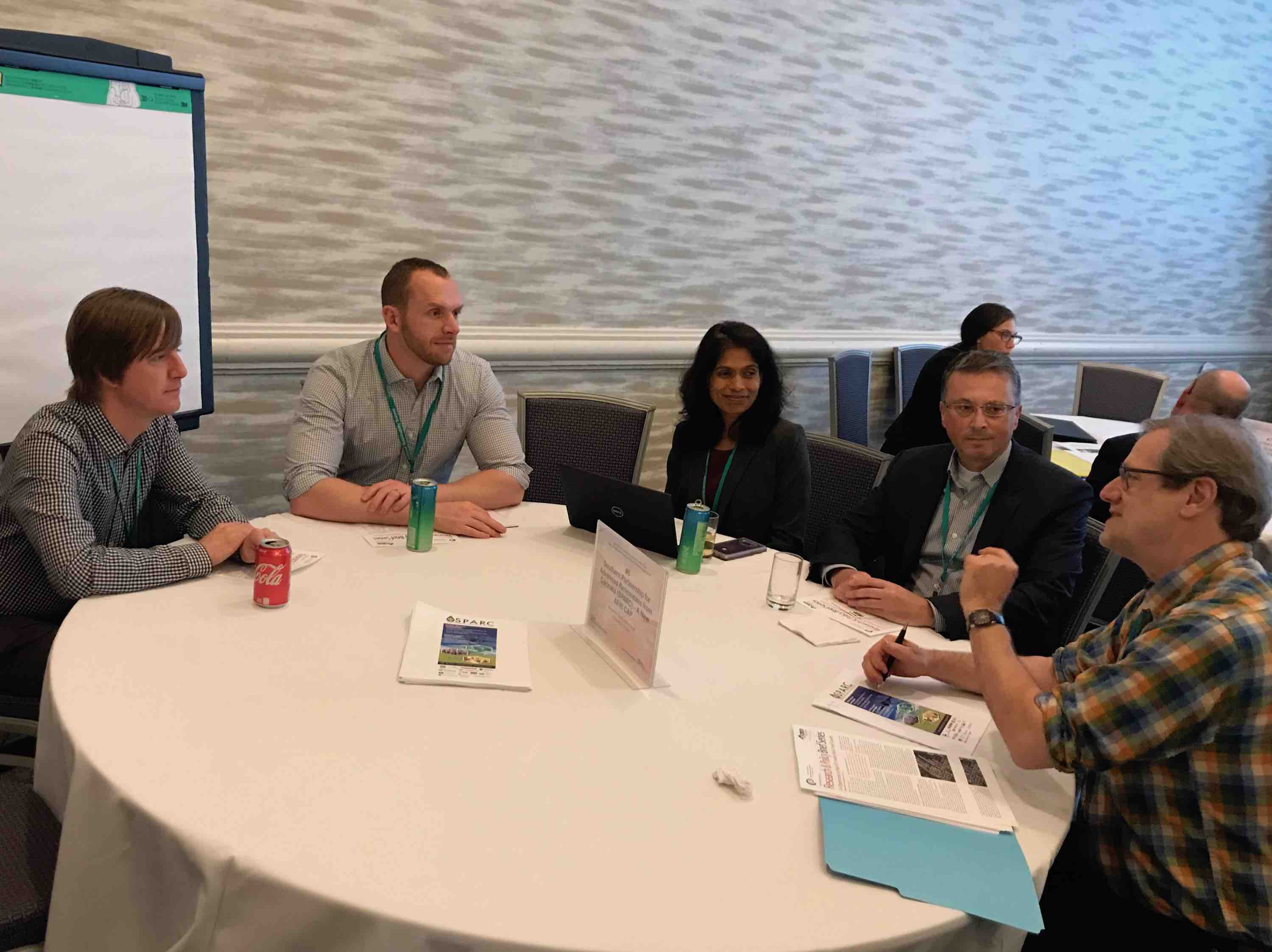 Dan Geller, Ben Christ, Sheeja George, and George Philippidis participate in a roundtable discussion on SPARC and Carinata at the NSS-NEES meetings in Tampa, FL